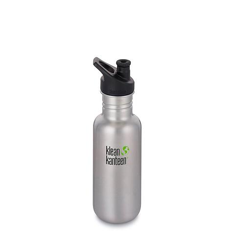 Klean Kanteen 532ml brushed stainless steel water bottle Sports Cap