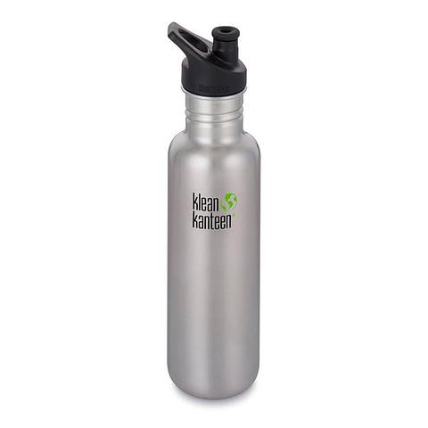 Klean Kanteen 800ml brushed stainless steel water bottle Sports Cap