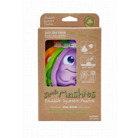 Little Mashies Reuseable Squeeze Pouch - mixed pack of 10