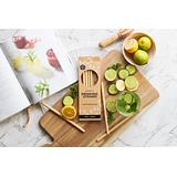 Ever Eco Bamboo Straws - 4 Pack + cleaner