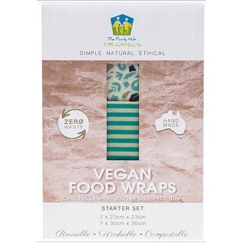 The Family Hub Organics Vegan Food Wraps - Starter Set of 2